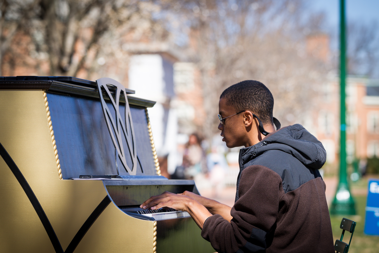 new piano on the quad