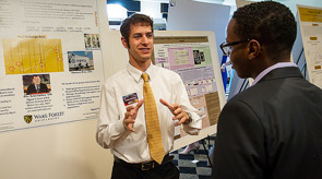 Student presents at URECA