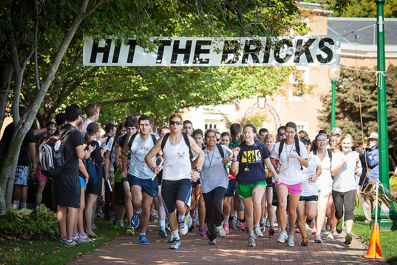 Runners take off at the start of Hit The Bricks.