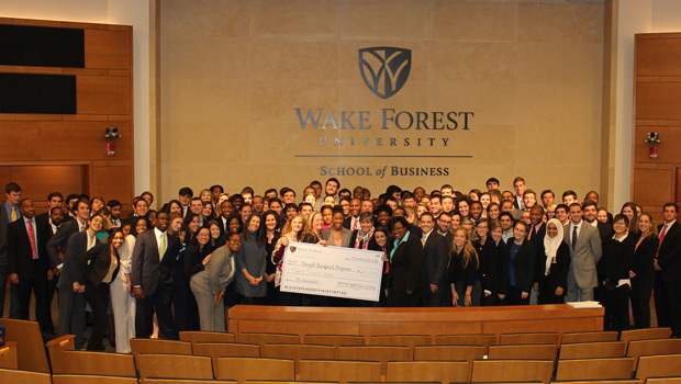 Wake Forest School of Business students