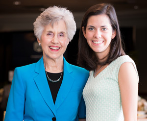 Mrs. June L. Booth (left) and Elizabeth Jay ('14)