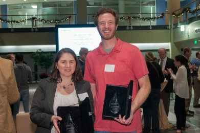 Oana Jurchescu and graduate student Peter Diemer.