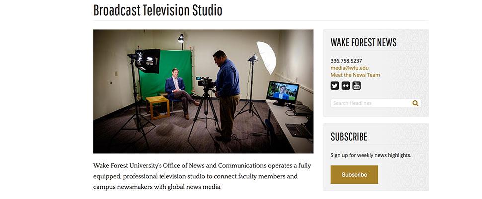Graphic about TV studio