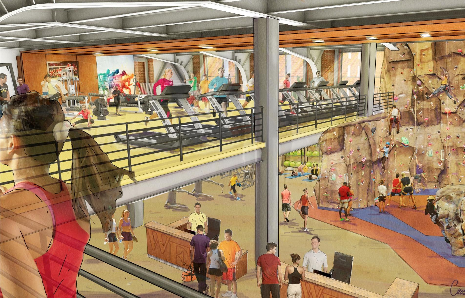 Reynolds gym rendering
