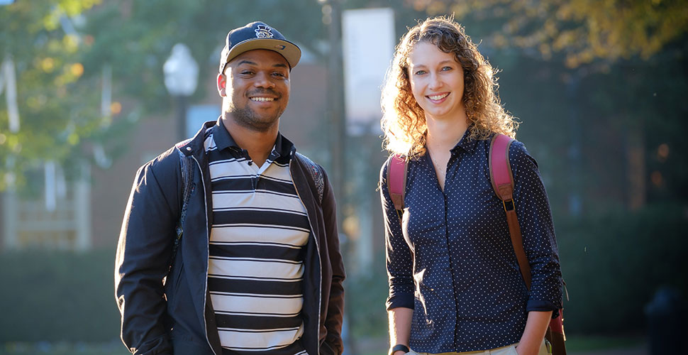 Wake Forest seniors Dwayne Peterkin ('17) and Sarah Rudasill ('17).