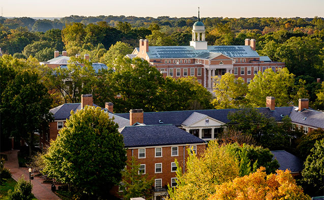 Ariel view of Wake Forest University