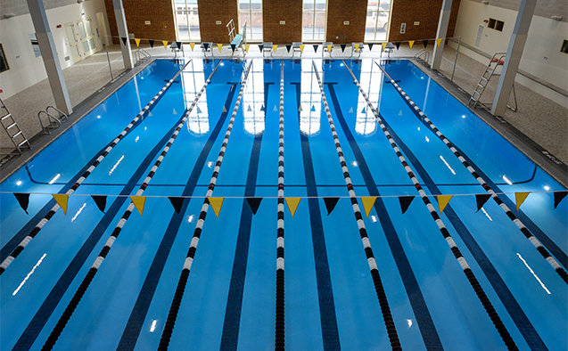 The new pool in Reynolds Gym at Wake Forest