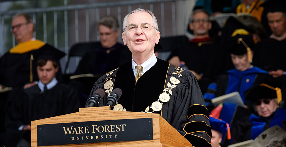 Nathan O. Hatch, Wake Forest president