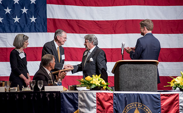 The Boy Scouts of America honored President Nathan O. Hatch at the Distinguished Citizen Award dinner on May 10.