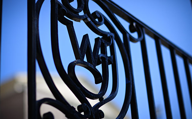 Wrought iron at Wake Forest University