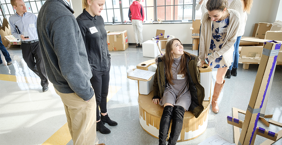 "Engineering students put their creativity to the test, reimagining the idea of a ""chair"" as part of their final project."