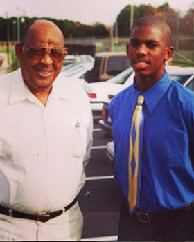 Chris Paul with his grandfather