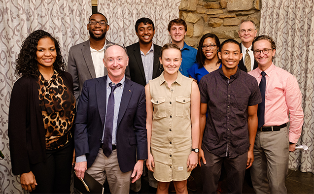 Wake Forest students attend the on-campus launch of the Call to Conversation program, at Graylyn International Conference Center on Tuesday, September 18, 2018.