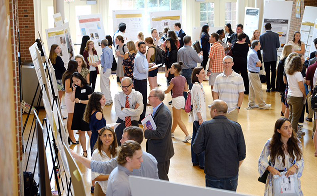 Wake Forest students, faculty and families celebrated Undergraduate Research Day in Z. Smith Reynolds Library on Sept. 28.