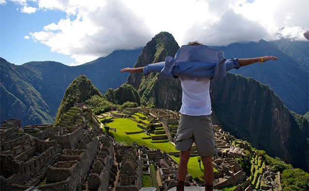On top of Machu Pichu