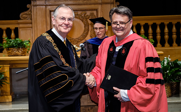 Religion professor Stephen Boyd wins the Kulynych Family Omicron Delta Kappa Award recognizes an outstanding faculty member who bridges the gap between classroom and student life.