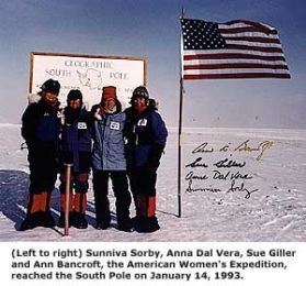 American Women's Expedition at the South Pole