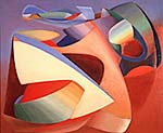 John Ferren's Lutte as Ciel, 1937, oil on plywood