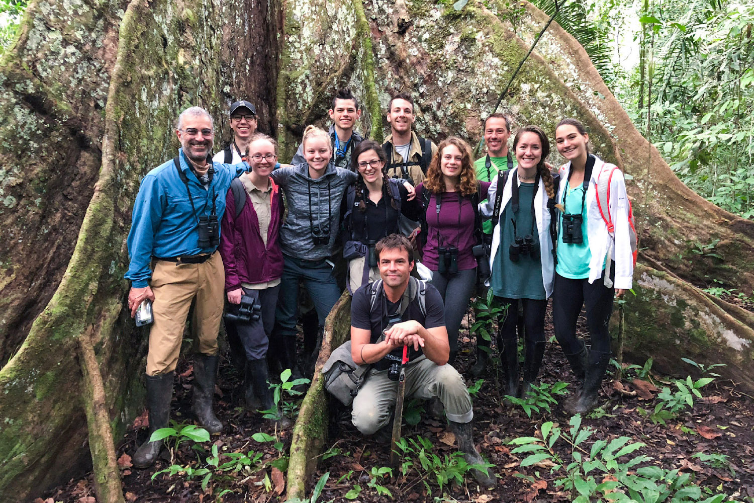 Wake Forest students studying environmental journalism in Peru with CINCIA