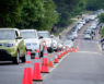 Commencement traffic on the Reynolda Campus