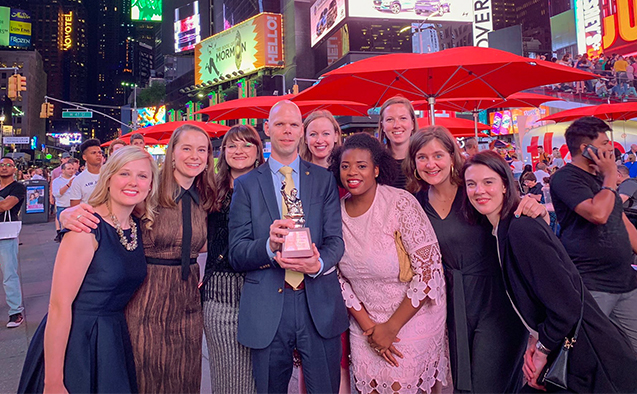 WFU group in NYC with PRSA Silver Anvil award