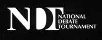 National Debate Tournament logo