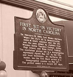 Sit-in historical marker