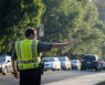 WFU Police officer directing traffic