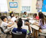 Children in a group reading setting