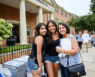 The Wake Forest Class of 2023 moves into their first-year residence halls on South Campus on Wednesday, August 21, 2019. Himani Nayyar ('23) poses with her sister and her mom outside Collins.