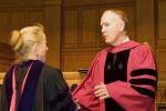 Melson Roberts, left receives teaching award