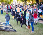 Wake Forest students host children from local elementary schools for a Halloween party on the quad during the annual volunteer service event Project Pumpkin, on Hearn Plaza on Wednesday, October 24, 2018.