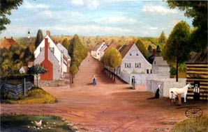 Painting of Old Salem