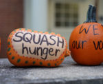 Decorated Campus Kitchen pumpkins