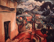 """""""Paysage Provencal,"""" a 1914 oil painting by French painter, Emile Othon Friesz, was donated to the Wake Forest Art Collection in 2002 from the estate of former professor Germaine Bree"""