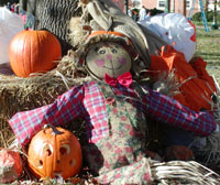 A scarecrow at Project Pumpkin