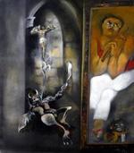 """Olympya, Untitled, 2002 oil on canvas, 47"""" x 41.5"""""""