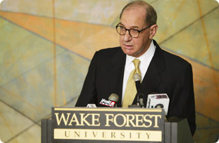 Wake Forest University President Thomas K. Hearn Jr.
