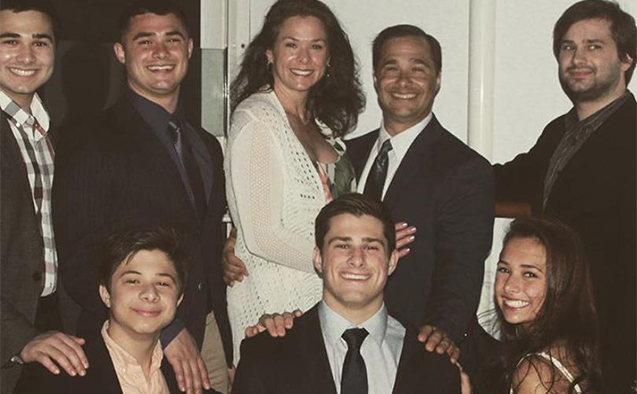 Anthony D'Angelo (front row, center) with his family.