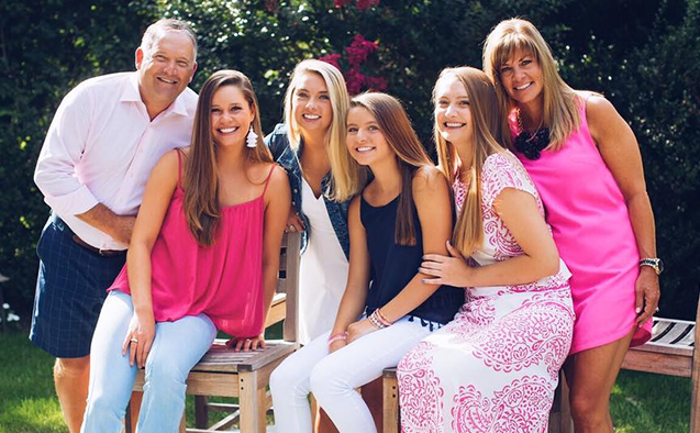 Marlee Rich (second from left) with her family.