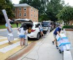 First year Wake Forest students move into the residence halls on South campus on Monday, August 17, 2020.