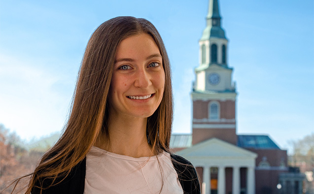 WFU student Jessica Mark, a participant in the Virtual Tutoring program