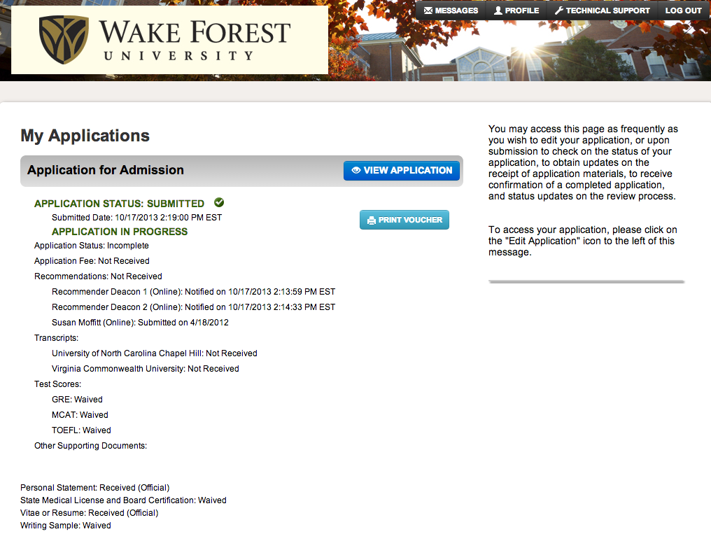 wake forest essay questions 2012 The previous question was submitted by a 2012 wake forest university applicant what question do you think we should ask next year's applicants created date.