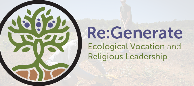 Re:Generate Program Logo sponsored by the School of Divinity's Food, Health, and Ecological Well-Being Program