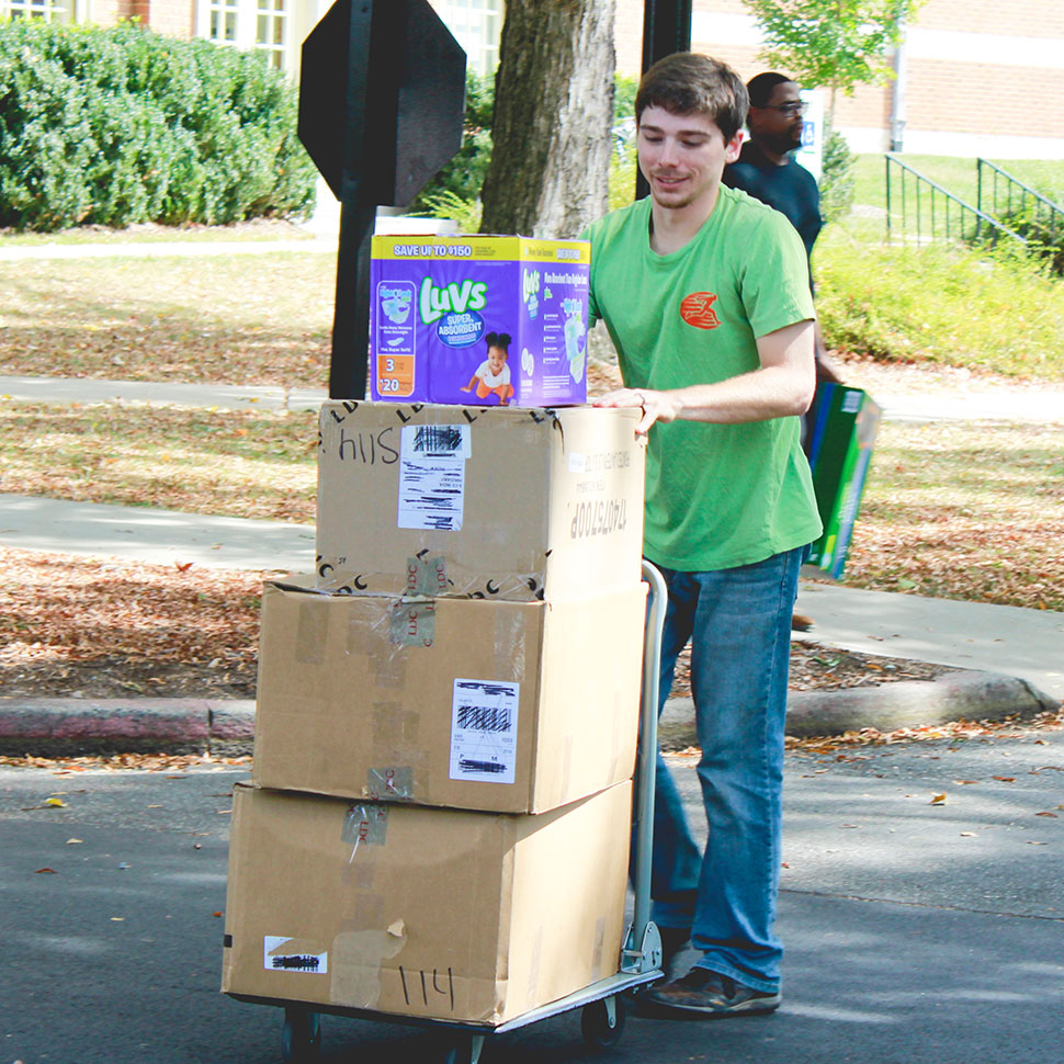 School of Divinity students ship donations from its Building Bridges with Britches campaign