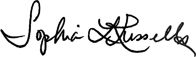 Digital Signature of Sophia Russell