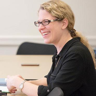 School of Divinity professor Michelle Voss Roberts lectures