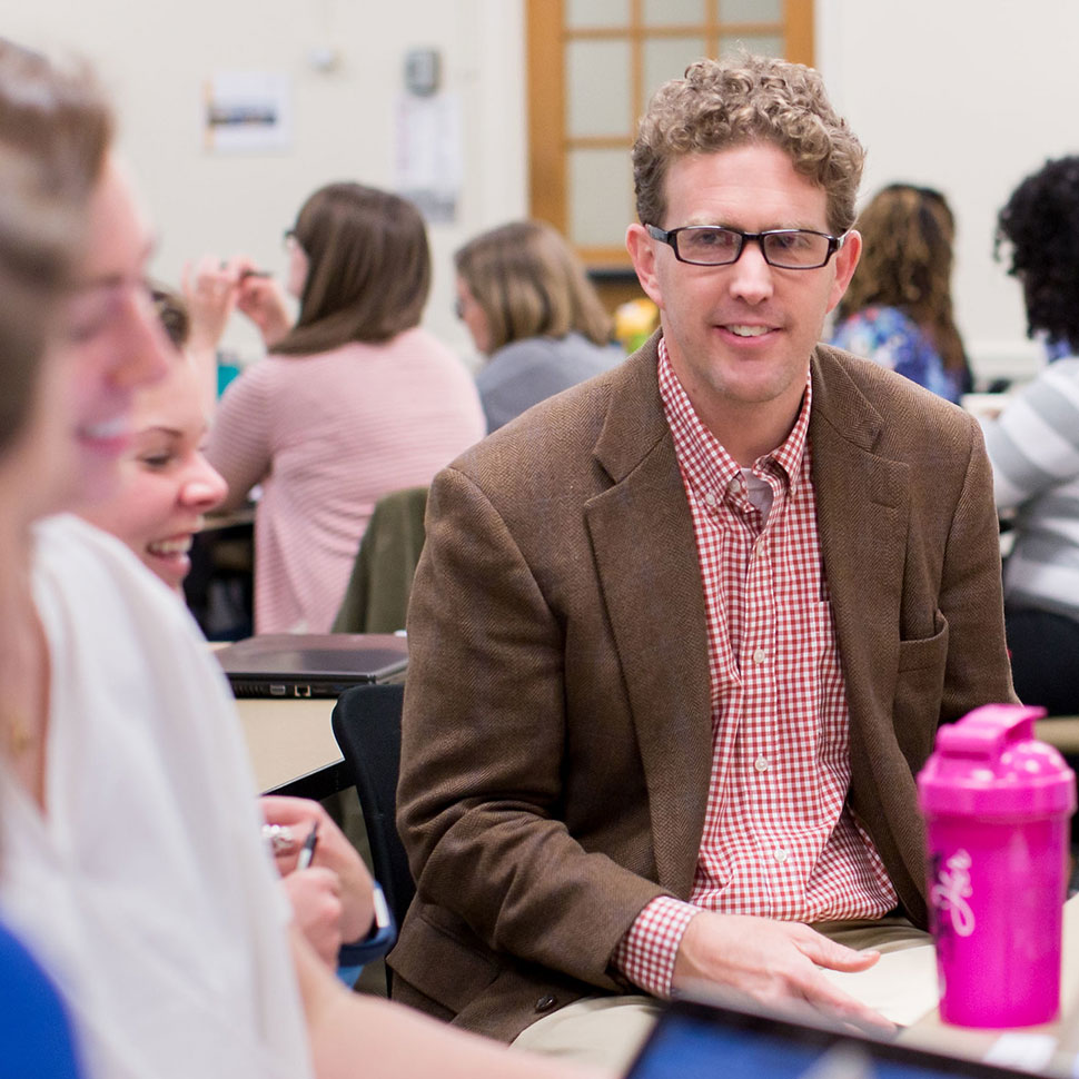 School of Divinity professor John Senior teaches a course on non-profit leadership
