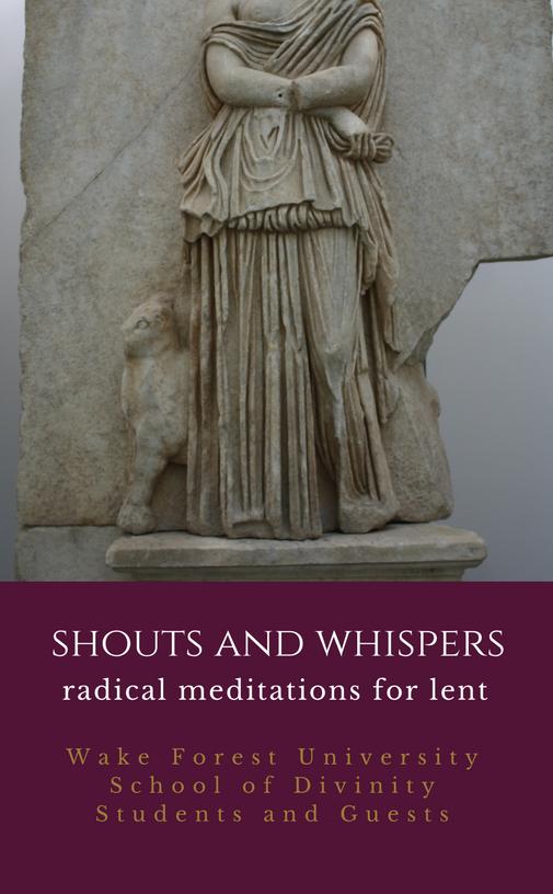Cover art for student published meditations for Lent entitled