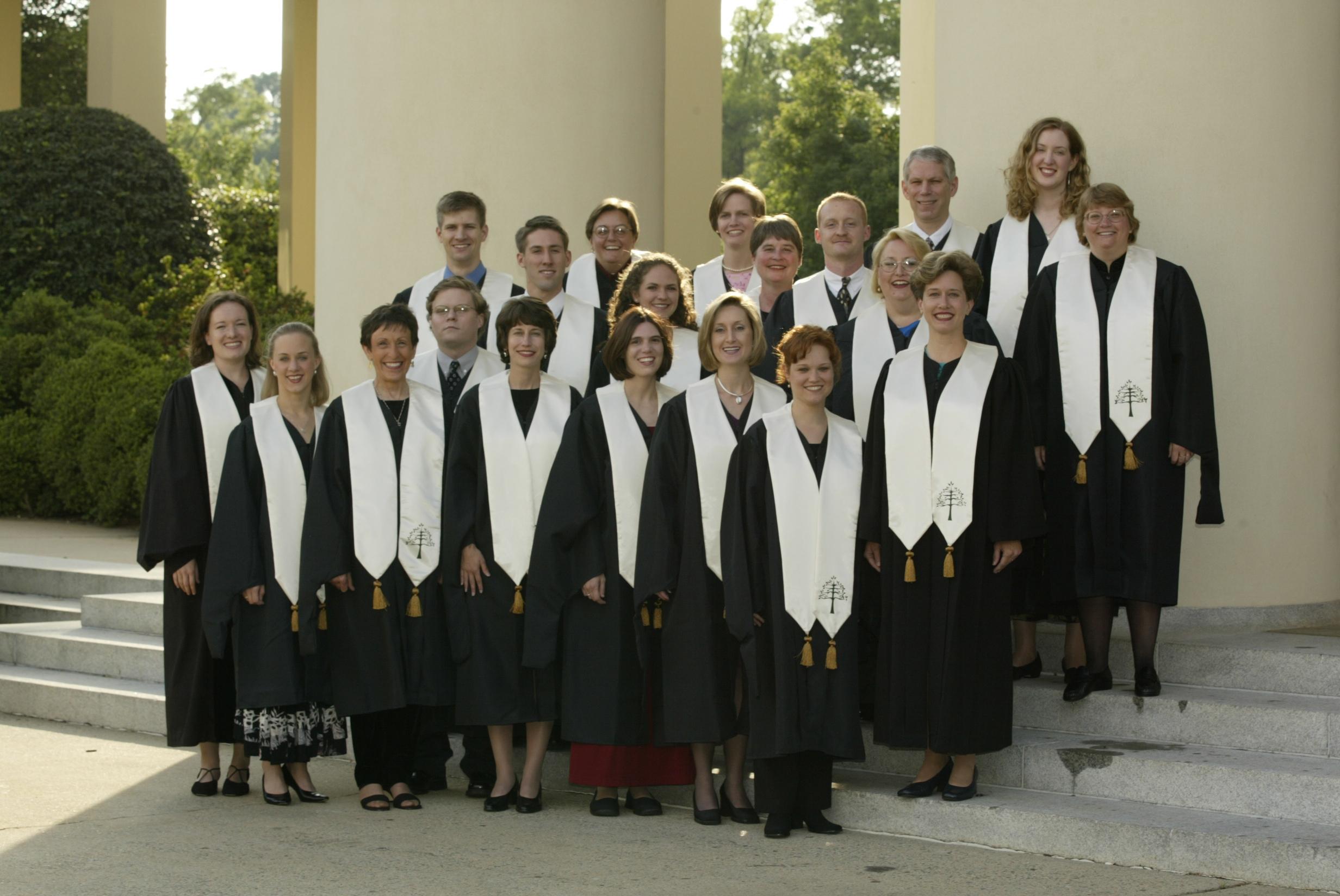 Inaugural Master of Divinity graduating class, 2002